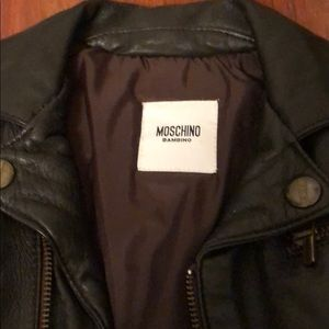 Moschino Jackets & Coats - Authentic Moschino Toddler Leather Biker Jacket